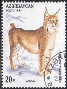 Azerbaijan 466 - Cto - 20m Caucasian Lynx (1994) (cv $0.60) (2)