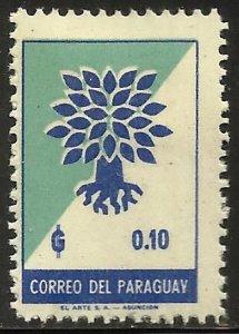 Paraguay 1961 Scott# 619 MH
