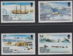 British Antarctic Territory 121-124 MNH (1985)