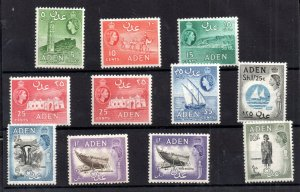 Aden QEII 1953 mint LHM collection to 10/- WS21042