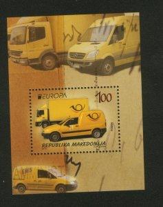 MACEDONIA-MNH** BLOCK-EUROPA CEPT-CARS-2013.