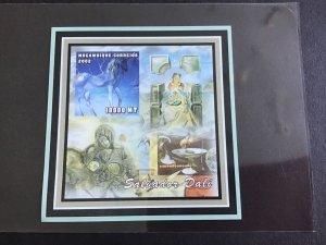 Mozambique 2002 Salvador Dalí  Mint Never Hinged Imperf Stamp Sheet R38618