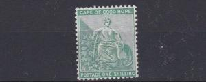 CAPE OF GOOD HOPE 1884 - 90  SG 53A 1/-  BLUE GREEN  MH C £180 OLD HINGE REMAINS
