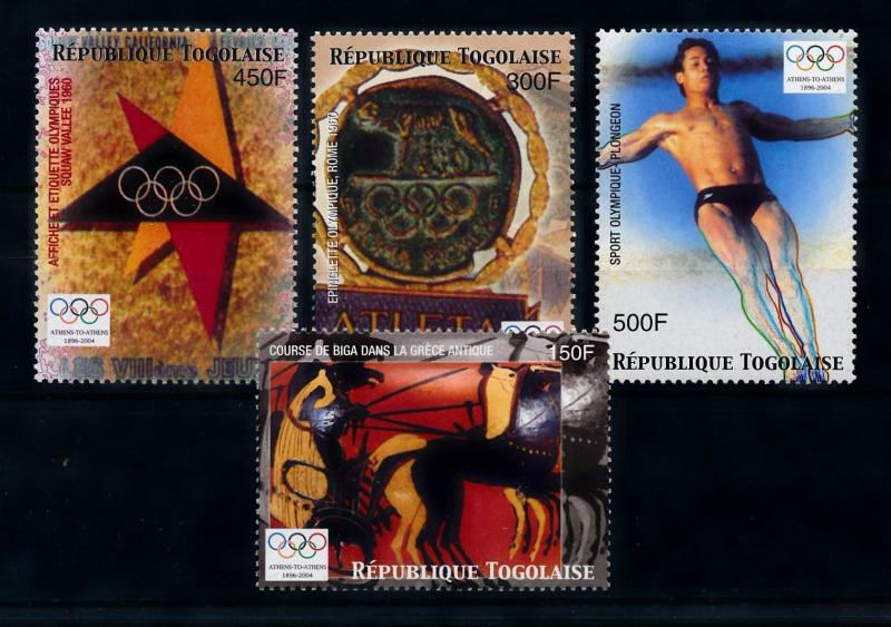 [76778] Togo 2004 Olympic Games Athens Diving Horses  MNH