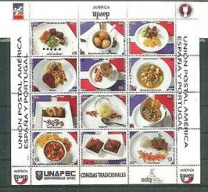 Dominican Republic 2019 America UPAEP, Traditional Foods, Comidas Sheet MNH