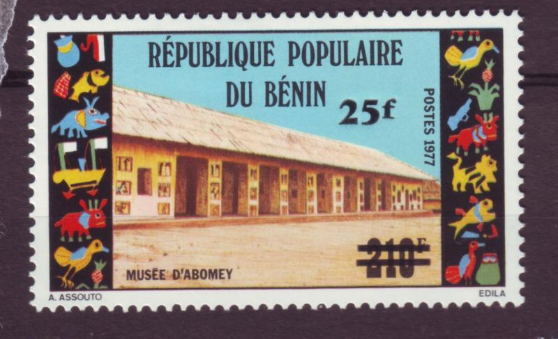 J15340 JLstamps 1983 benin from a set mh #562 ovpt