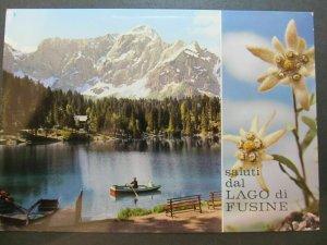 4509 Cartolina Postcard Campeggio Alpino La Madonnina Fusine Valromana usata 116