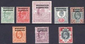 Morocco Agencies 1907 1/2d-2s6d on GB SG 31-38 Sc 201-208 LMM/MLH Cat £150($186)