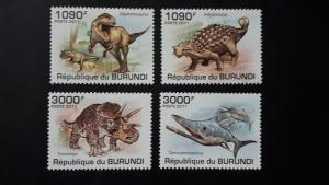 Burundi 2011. - Prehistoric animals ** MNH complete set (perforated)