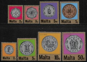 Malta #439-46 MNH Set - Currency Coins
