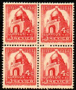 MEXICO 786, 4c 1934 Definitive Block of 4 Unused (163)