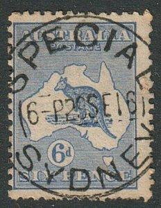 AUSTRALIA 1916 6d SG38 with superb SPECIAL / SYDNEY Relief cds.............15090
