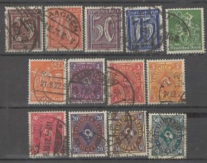 COLLECTION LOT # 4489 GERMANY 13 STAMPS WMK 126 1921+ CV+$28