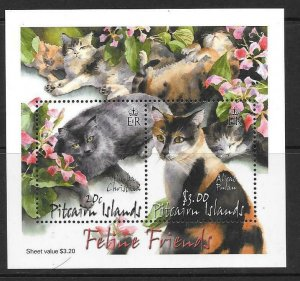 PITCAIRN ISLANDS SGMS622 2002 CATS MNH
