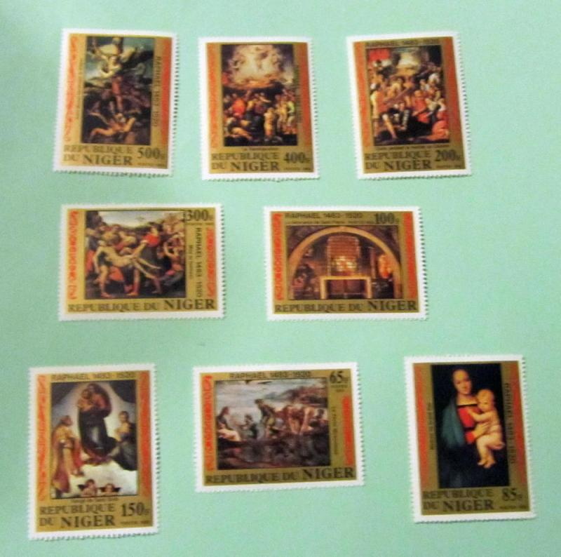 Niger - 614-21, MNH Set. Raphael Paintings. SCV - $13.40