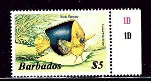 Barbados 658 MNH 1985 Tropical Fish    (ap2568)