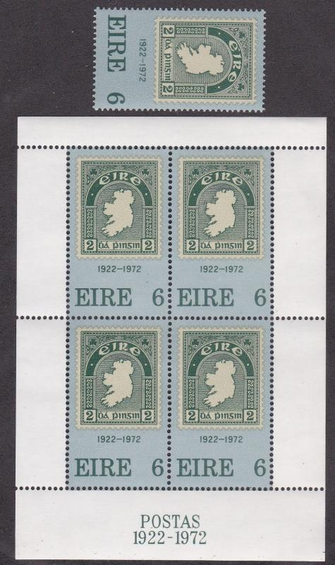 Ireland # 326 & 326a, Irelands 1st Stamp 50th Anniversary,  NH, 1/2 Cat.