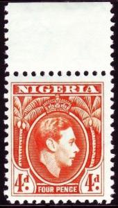 NIGERIA SG54, 4d orange, NH MINT. Cat £48.