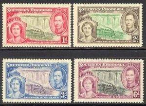 Southern Rhodesia 1937 GVI Coronation set Sc# 38-41 NH