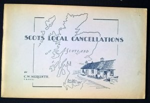 SCOTS LOCAL CANCELLATIONS Meredith 1953 Scotland Postmarks Postal History