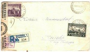 SERBIA WW2 Cover *Kragujevac* Registered GERMAN CENSOR 1943{samwells-covers} ST9