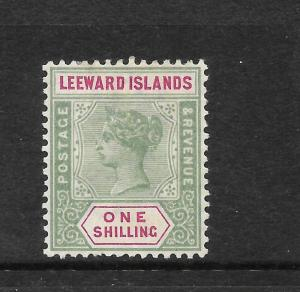 LEEWARD ISLANDS 1890  1/-   QV   MLH   SG 7