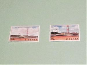 Liberia - 1135-36, MNH Set. Satellite Station. SCV - $1.50