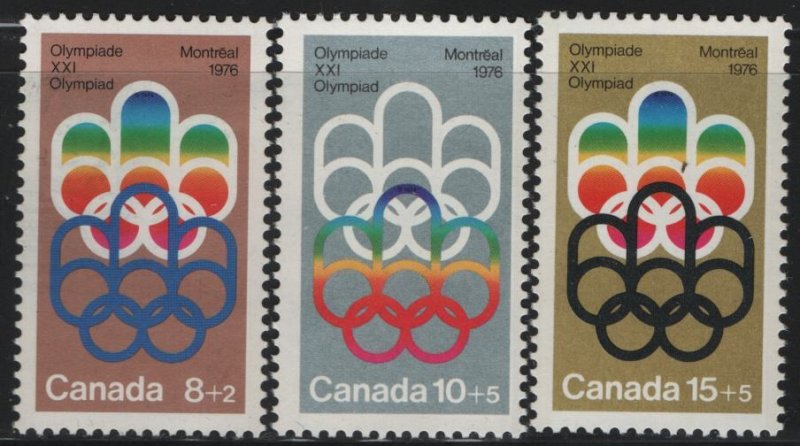 CANADA, B1-B3, (3) SET, MNH, 1974, Olympic Type of 1973