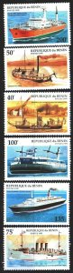 Benin. 1995. 631-36. Steamers, ships. MNH.