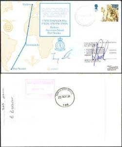 RD3a Falkland Islands to UK Signed by Pilot and chairman (D)