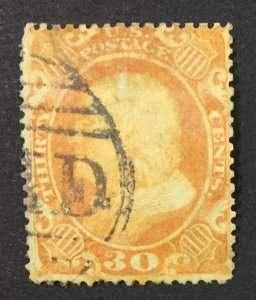 MOMEN: US STAMPS #38 USED LOT #44857