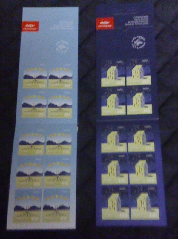 Iceland Sc  1171a-72a 2009 Europa stamp booklets mint NH