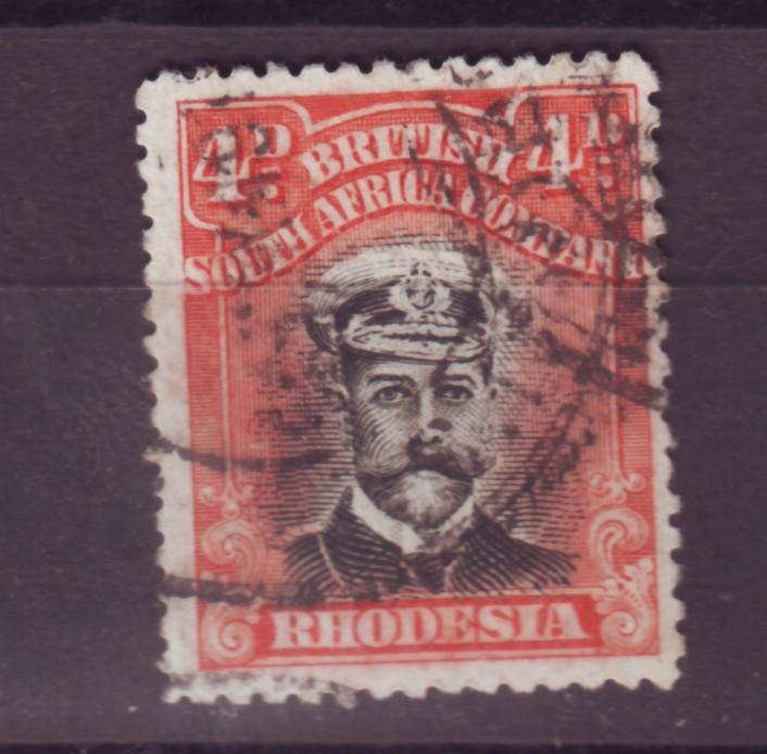 J17100 JLstamps 1913-23 rhodesia used #125a perf 15 king