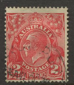 Australia - Scott 116 - KGV Head -1931 - Used - Wmk 228 - Single 2p Stamp