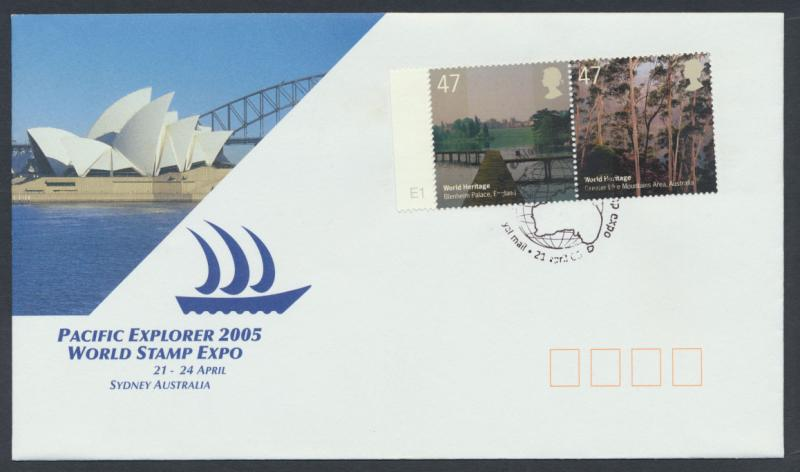 GB SG 2536a SC# 2285a - FDC from World Stamp Expo Sydney 2005