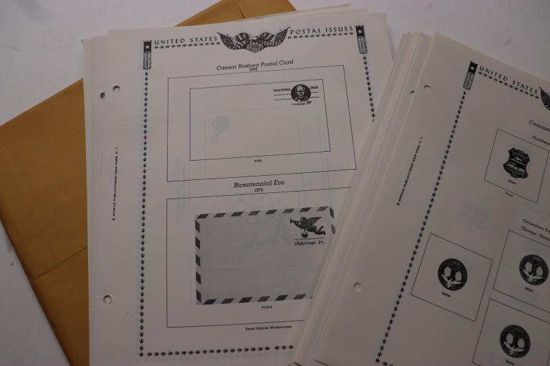 Minkus US Commemorative Postal Stationery card envelopes cut squares Supplement