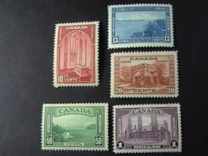 CANADA # 241-245--MINT/HINGED----COMPLETE SET---1938