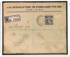 W233a Palestine Postal Stationery Cover 1946 {samwells-covers}