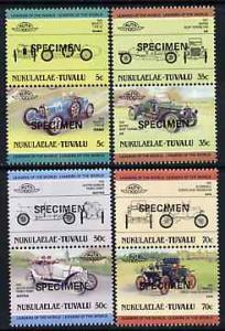 Tuvalu - Nukulaelae 1985 Cars #1 (Leaders of the World) s...