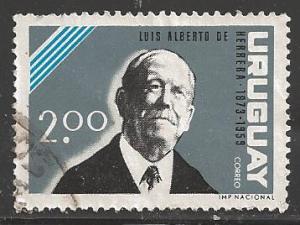 Uruguay 1964 2p Herrera, Scott #712, used