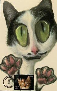 HNLP Hideaki Nakano 3670 Spay & Neuter Cat Greeting Card Bye Bye You'll Miss Me