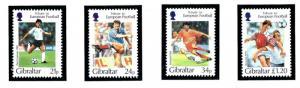 Gibraltar 707-10 MNH 1996 Soccer