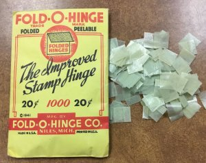 Vintage PACK of 1000 Harco FOLD-O-HINGES , peelable , opened