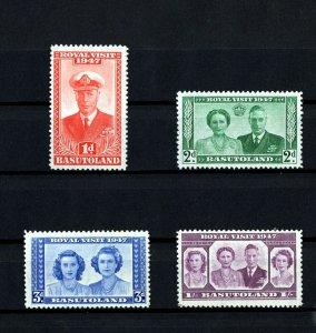 BASUTOLAND - 1947 - KG VI - ROYAL VISIT - ROYAL FAMILY - SCAN 1 - MINT MNH SET!
