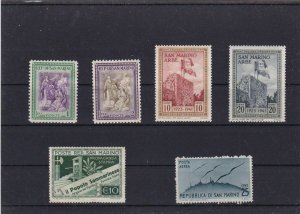 SAN MARINO  MOUNTED MINT OR USED STAMPS ON  STOCK CARD  REF R937