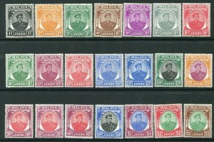 JOHORE-1949 Set of 21 Sg 133-47 MOUNTED MINT V32685
