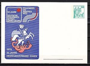 Germany, 1979 issue. St. George, 50th Anniversary Scout cachet on Postal Card. ^