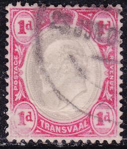 Transvaal 253 USED 1902 King Edward VII 1d