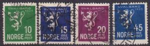 Norway #111-4  F-VF Used  CV $35.50