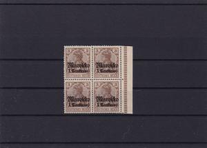 German Colonies  Morocco 1911 Yacht Type mint never hinged stamps block  R20948